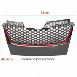 Sport grill VW GOLF 6  look GTI black red