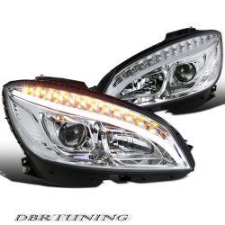 Headlights Tube Led Mercedes C W204 07-11