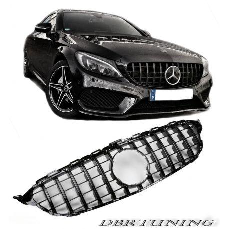 Sport grill Mercedes GTR look W205 14-18 black