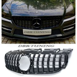 Grilles Mercedes SLK look GTR 11-15 black chrome