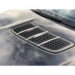 Bonnet fins chrome AMG Mercedes SLK SLC R172 11-