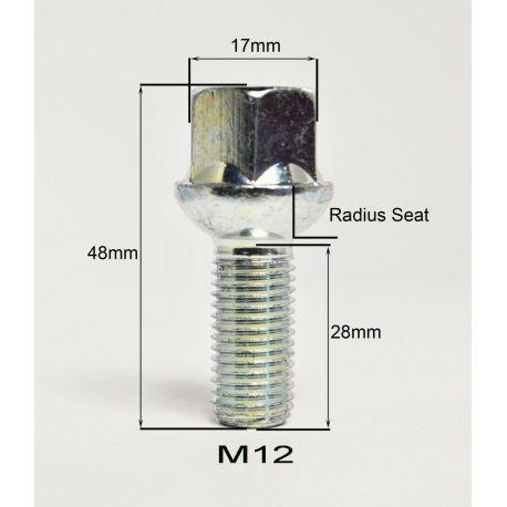 16 bolt B12 BIMEC M12X1,50 L26 CH 17 CONICAL