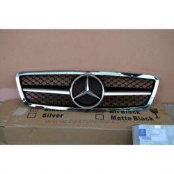 Calandra sportiva Mercedes C W203 00-07 cromo-nero