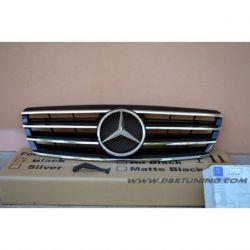 Calandra spor Mercedes C W203 00-07 nero-cromo