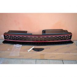 Calandra VW GOLF 6  look GTI nero-rosso