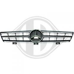 AMG grill Mercedes CLS W219 04-10 black-chrome