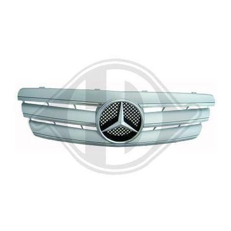 Calandra sportiva Mercedes C W203 00-07 silver-cromo