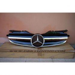 Calandra sportiva Mercedes SLK 170 96-04 nero-cromo