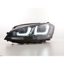 Fari U - Led 3D VW GOLF 7 12-17 neri