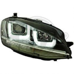 Fari U - Led 3D VW GOLF 7 12-17 neri-cromo