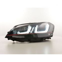Fari U - Led 3D VW GOLF 7 12-17 neri-rossi