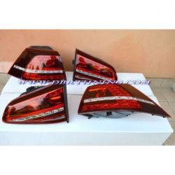 Fanali LED GOLF 7 look GTI, GTD 12-17 rosso ciliegia