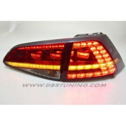 Fanali LED GOLF 7 look GTI, GTD 12-17 rosso