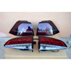 Fanali LED GOLF 7 look GTI, GTD 12-17 rosso fumè