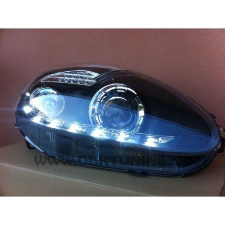 Coppia fari Daylight LED Fiat G.PUNTO 03-08 neri