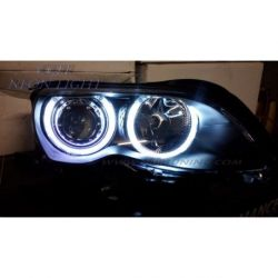 Fari Angel Eyes CCFL BMW 3 4porte E46 01-05 neri