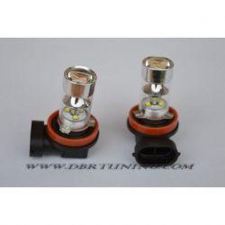 LAMPADE H8 LED POSIZIONE DIURNA 6000K 45W