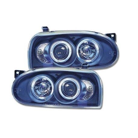 Coppia fari Angel Eyes VW Golf 3 (1HXO-1EXO) 91-98 neri