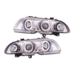 Coppia fari Angel Eyes BMW 3 4porte E46 98-01