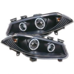 Headlight Angel Eyes Renault Megane2  02-06 black