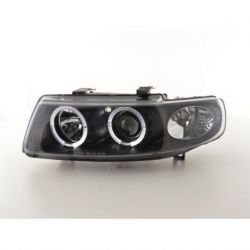 Headlights Led Angel Eyes Leon 1M 99-05 neri
