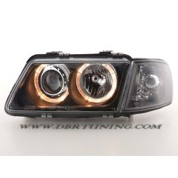 Gruppi ottici Angel Eyes Audi A3 (8L) 96-00 neri