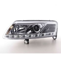 Coppia fari Daylight Led Audi A6 4F 04-08 XENON