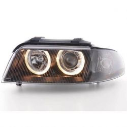 Headlights Angel Eyes Audi A4 B5 99-01 neri