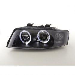 Coppia fari Led Angel Eyes Audi A4 8E 01-04 neri