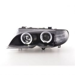 Fari Angel Eyes Led BMW 3 E46 01-05 neri
