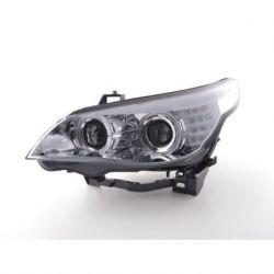 Coppia fari Angel Eyes BMW 5 E60 04-07 + motorino