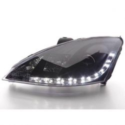 Gruppi ottici Daylight Led Ford Focus 2 98-04 neri