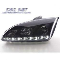 Coppia fari Daylight Led DRL Ford Focus 2 05-07 neri