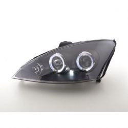 Gruppi ottici Angel Eyes Led Ford Focus 2 01-04 neri
