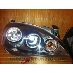 Headlight Angel Eyes Led Opel Corsa C 00-06 black